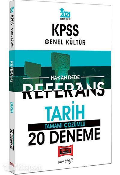2021 KPSS Tarih Referans Tamamı Çözümlü 20 Deneme PDF Kitap İndir