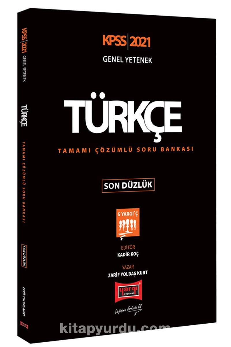 2021 KPSS Türkçe Son Düzlük Tamamı Çözümlü Soru Bankası PDF Kitap İndir