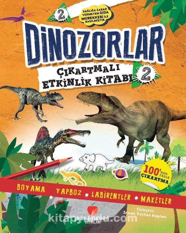 Dinozorlar Çıkartmalı Etkinlik Kitabı 2 PDF Kitap İndir