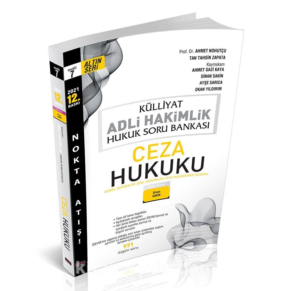Külliyat Ceza Hukuku Soru Bankası Adli Hakimlik  PDF Kitap İndir
