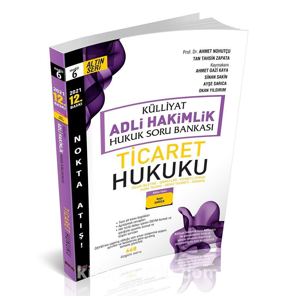 Külliyat Ticaret Hukuku Soru Bankası Adli Hakimlik  PDF Kitap İndir