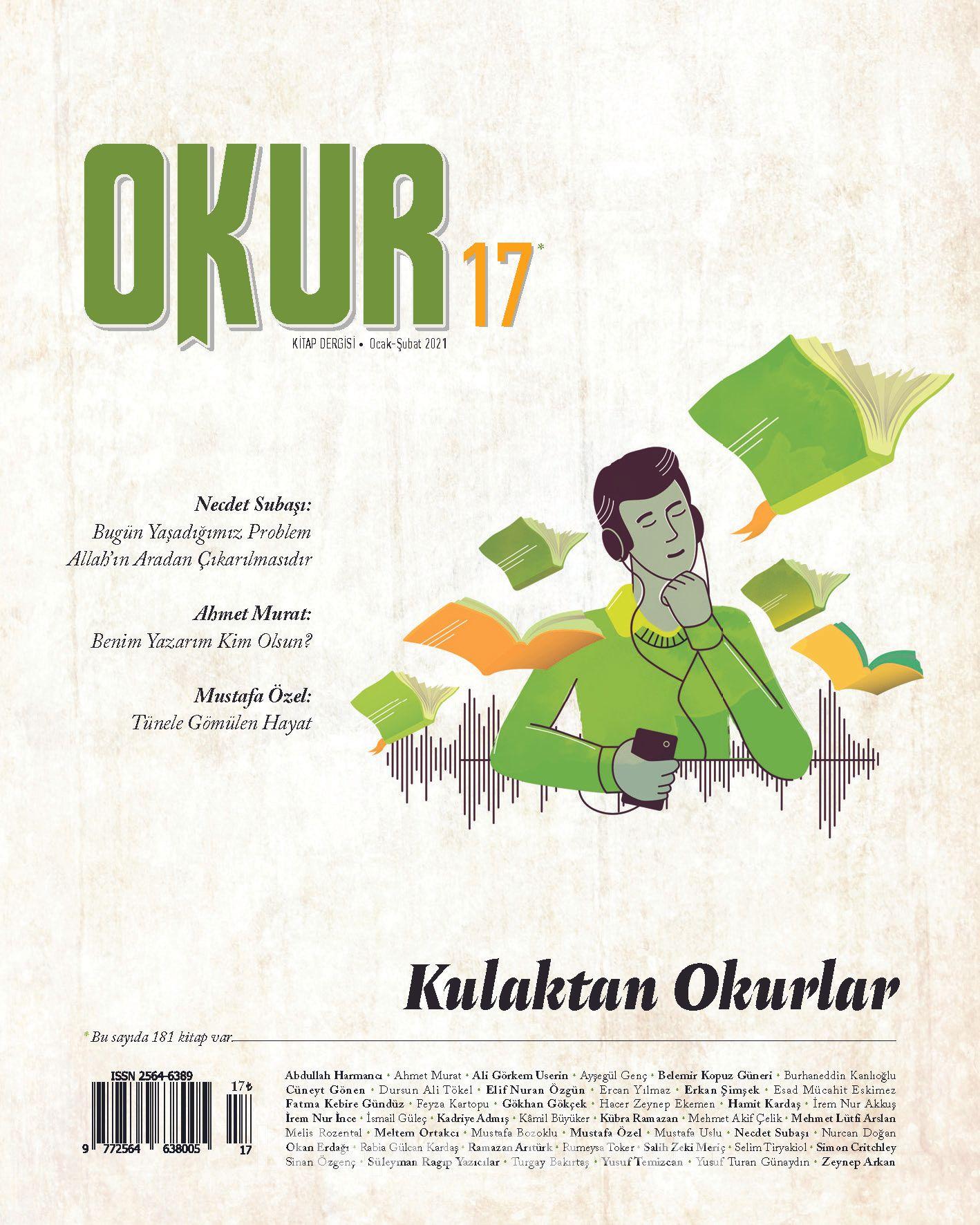Okur Kitap Dergisi Sayı 17 Ocak-Şubat 2021 PDF Kitap İndir