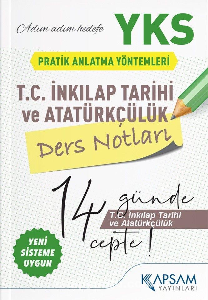 YKS (TYT-AYT) T. C. İnkılap Tarihi ve Atatürkçülük Ders Notları  PDF Kitap İndir