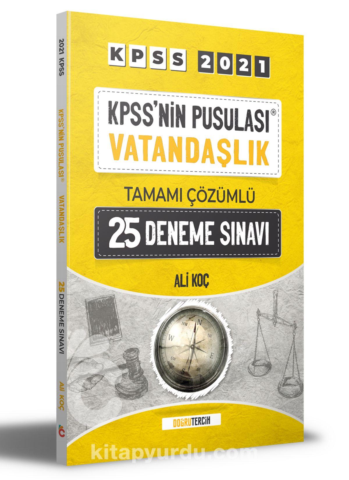 2021 KPSS'nin Pusulası Vatandaşlık Tamamı Çözümlü 25 Deneme Sınavı  PDF Kitap İndir