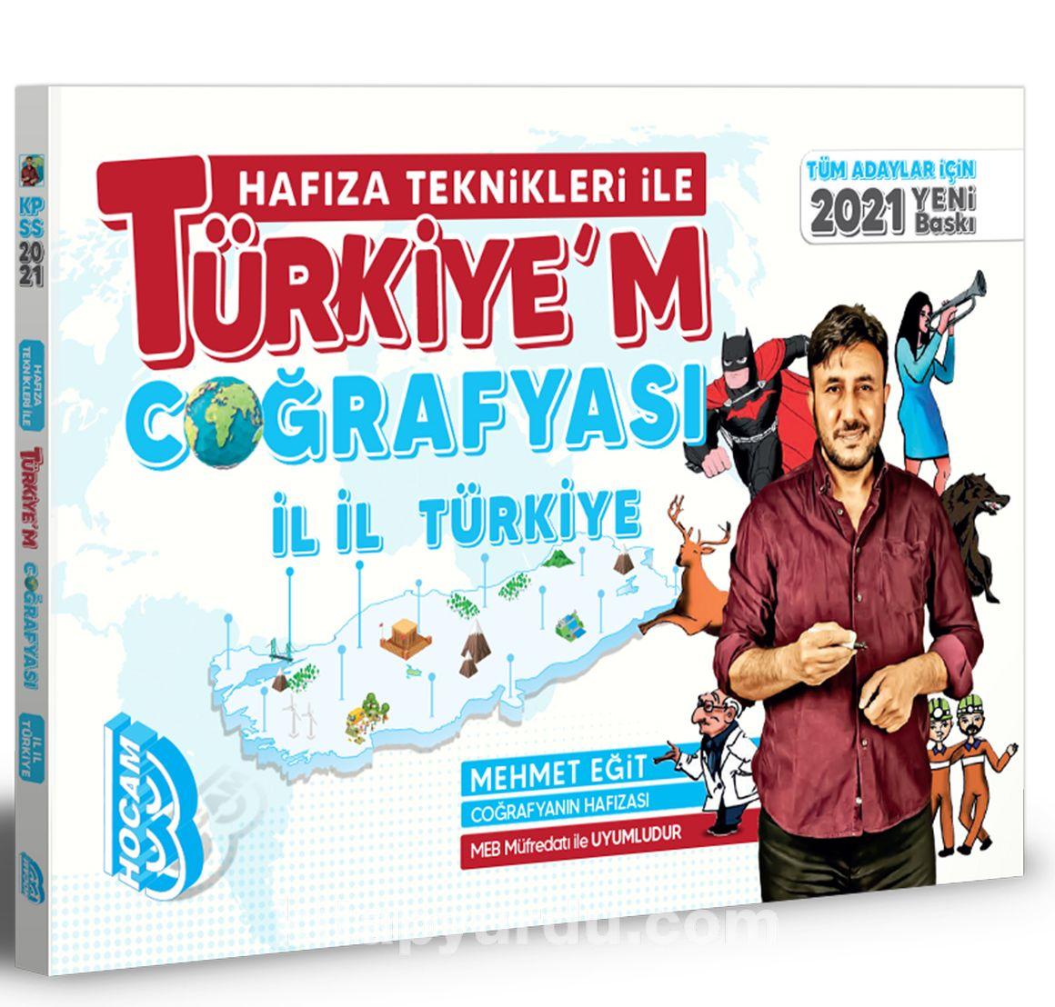 2021 Tüm Adaylar İçin Hafıza Teknikleri İle Türkiye'm Coğrafyası PDF Kitap İndir