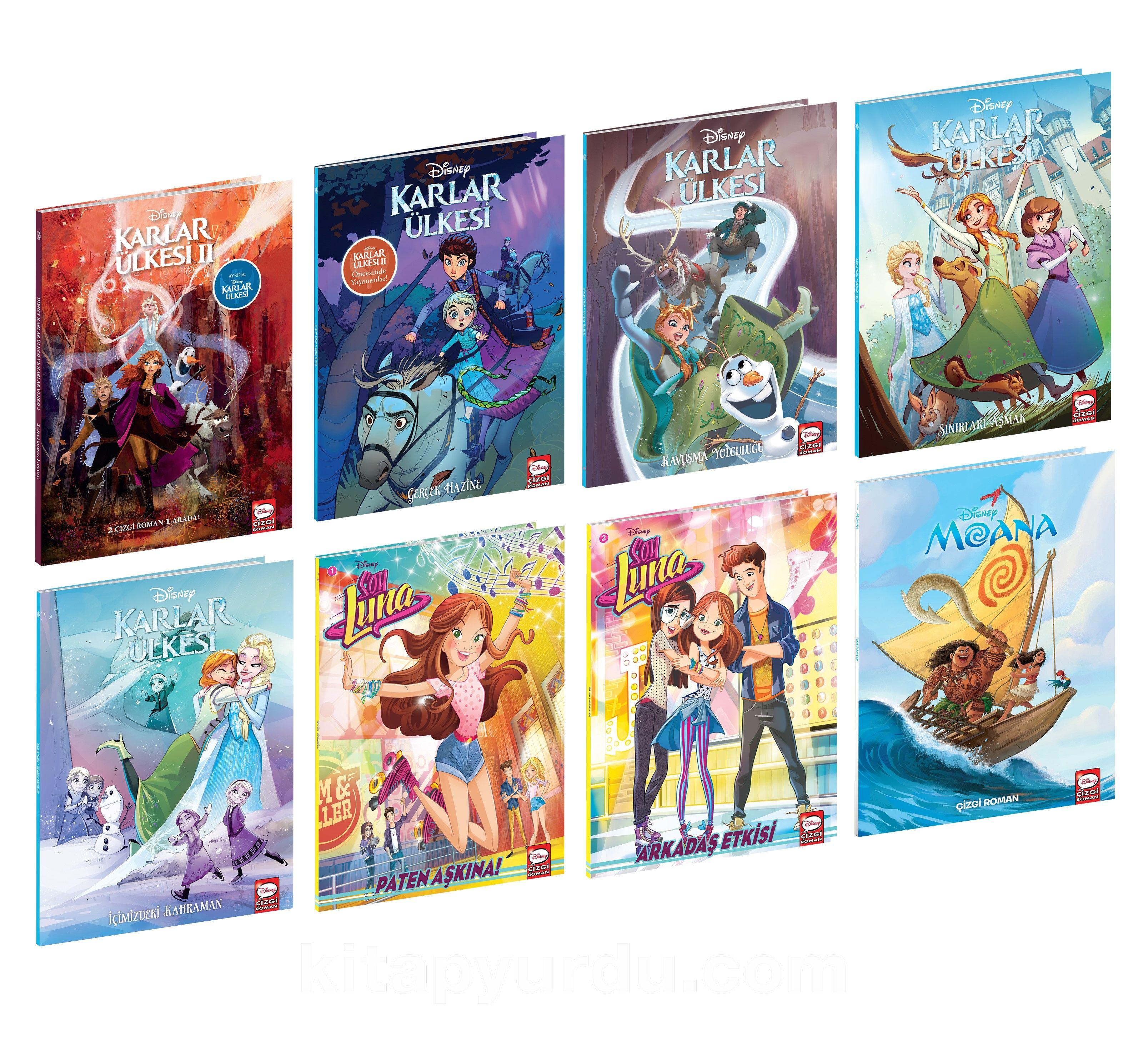 Disney Çizgi Klasikleri Kız Çocuk Seti (8 Kitap) PDF Kitap İndir