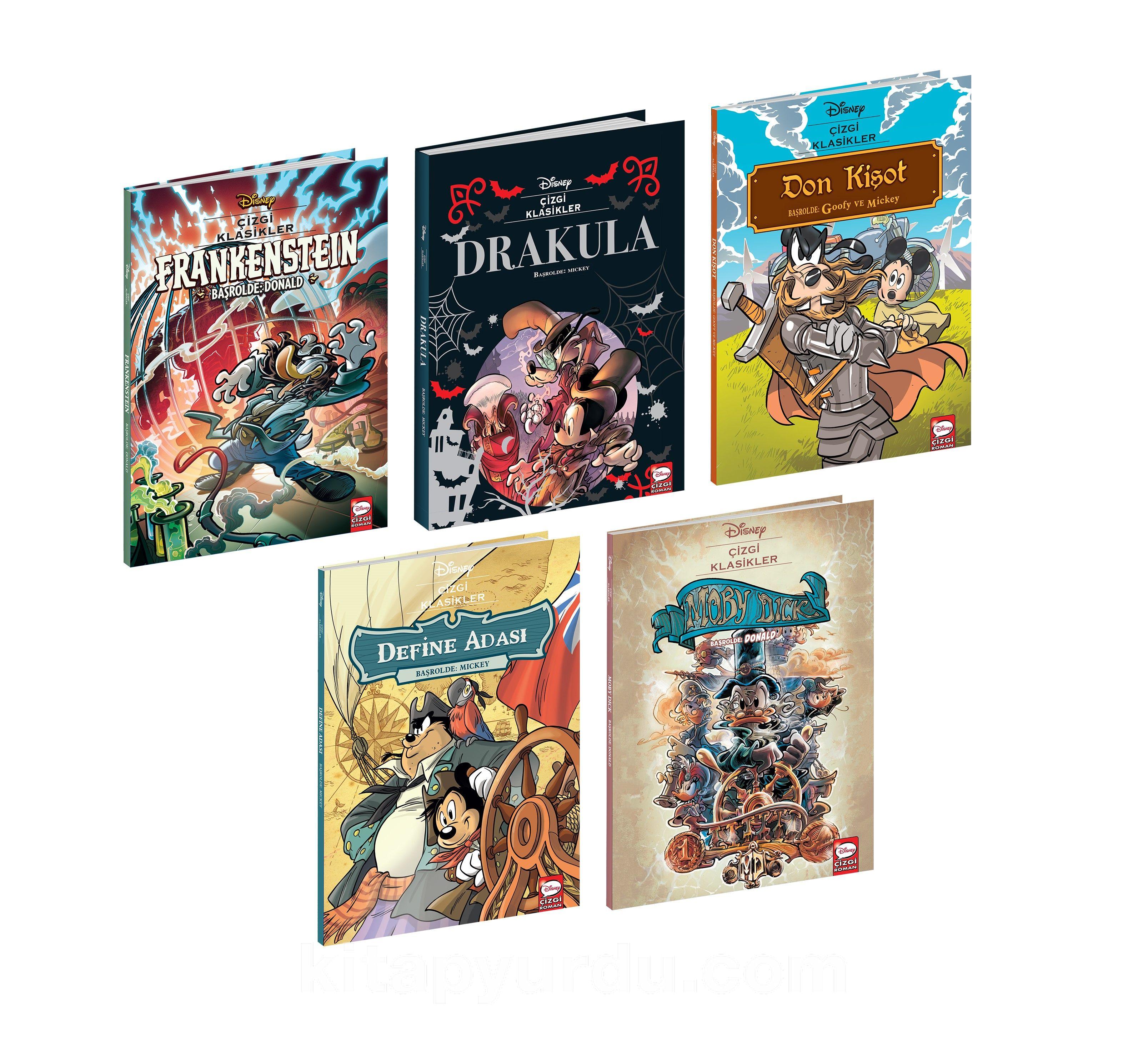 Disney Çizgi Klasikleri Seti (5 Kitap Seti) PDF Kitap İndir
