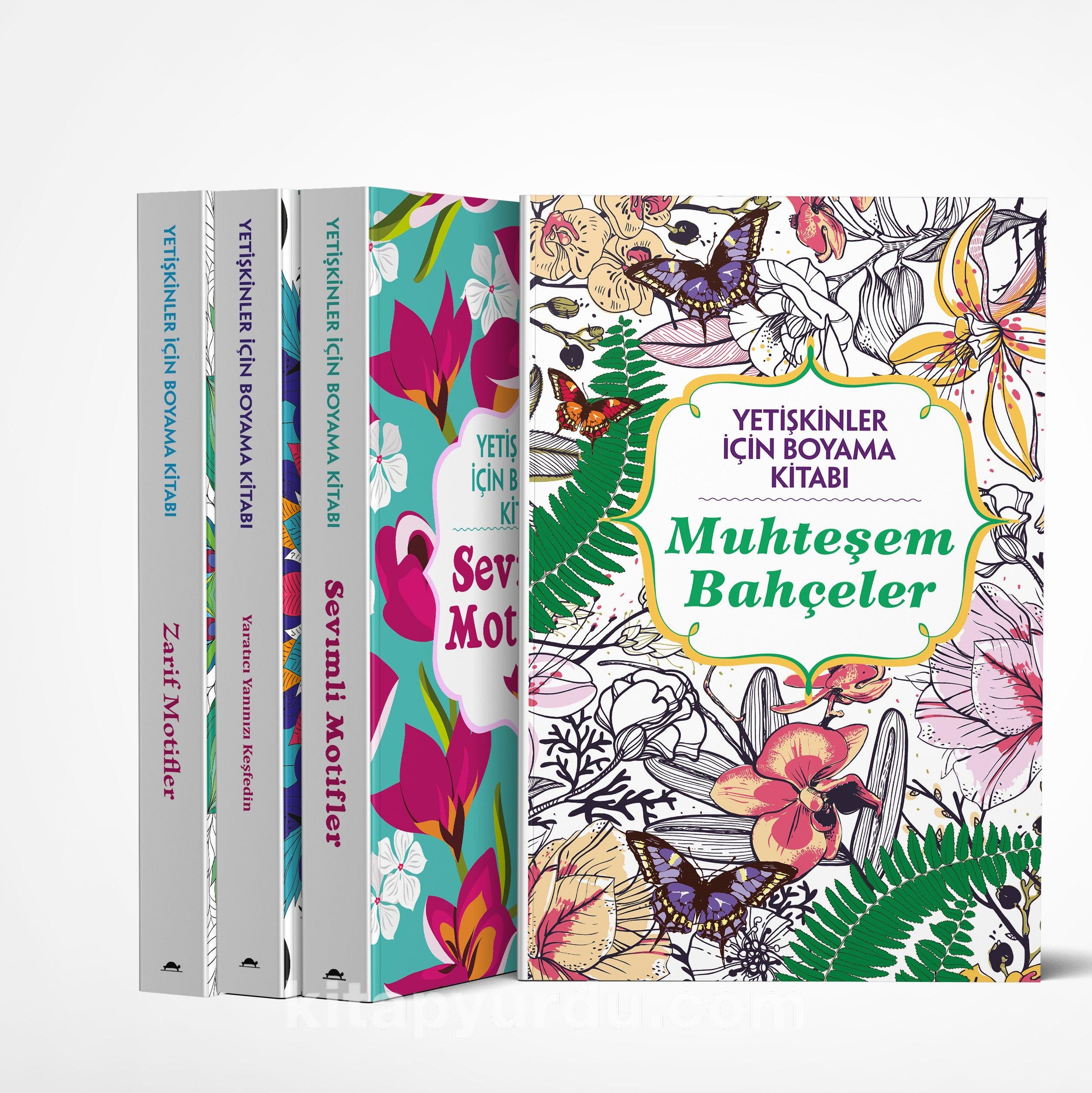 Yetişkinler İçin Boyama Kitabı Seti (4 Kitap Takım) PDF Kitap İndir