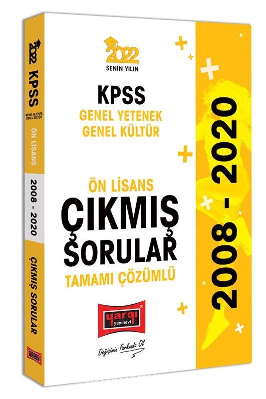 2022 KPSS Genel Yetenek Genel Kültür Ön Lisans Tamamı Çözümlü Çıkmış Sorular PDF Kitap İndir