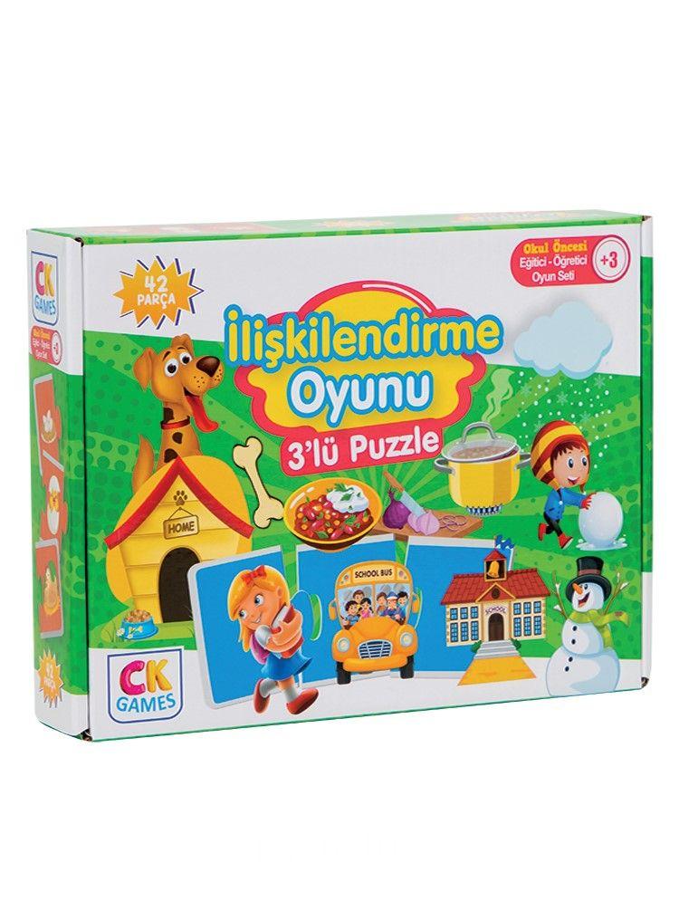 İlişkilendirme Oyunu Okul Öncesi Oyun Seti +3 Yaş Eğitici Öğretici 42 Parça Puzzle Oyun Seti PDF Kitap İndir