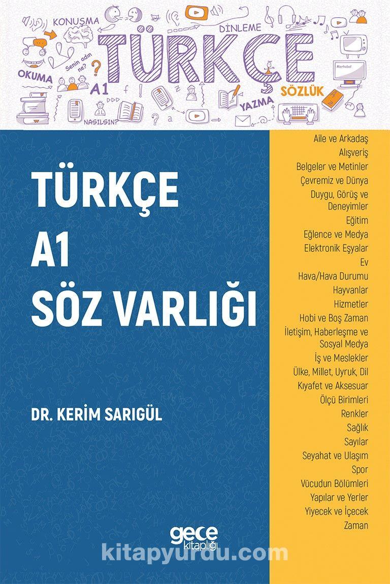 Türkçe A1 Söz Varlığı PDF Kitap İndir