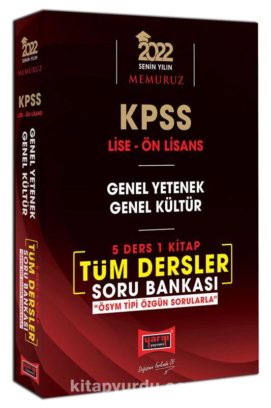 2022 KPSS Lise Ön Lisans GY GK 5 Ders 1 Kitap Tüm Dersler Soru Bankası PDF Kitap İndir