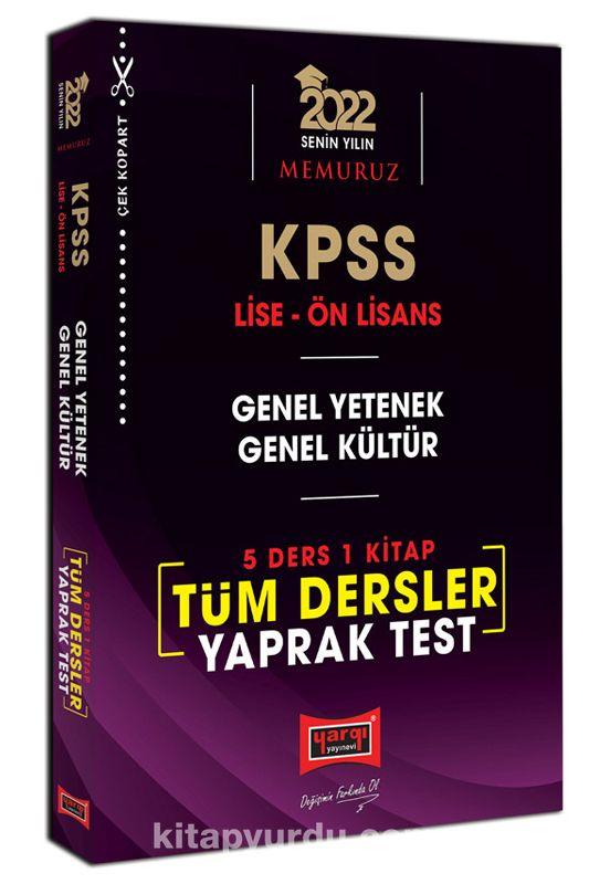 2022 KPSS Lise Ön Lisans GY GK 5 Ders 1 Kitap Tüm Dersler Yaprak Test PDF Kitap İndir