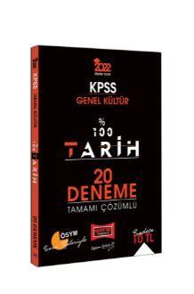 2022 KPSS Genel Kültür %100 Tarih Tamamı Çözümlü 20 Deneme PDF Kitap İndir