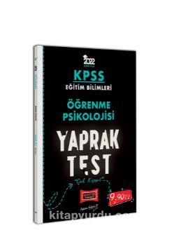 2022 KPSS Eğitim Bilimleri Öğrenme Psikolojisi Yaprak Test PDF Kitap İndir