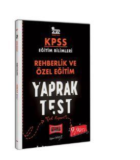 2022 KPSS Eğitim Bilimleri Rehberlik ve Özel Eğitim Yaprak Test PDF Kitap İndir