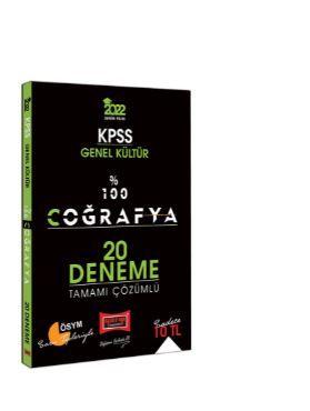 2022 KPSS Genel Kültür %100 Coğrafya Tamamı Çözümlü 20 Deneme PDF Kitap İndir