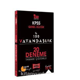 2022 KPSS Genel Kültür %100 Vatandaşlık Tamamı Çözümlü 20 Deneme PDF Kitap İndir