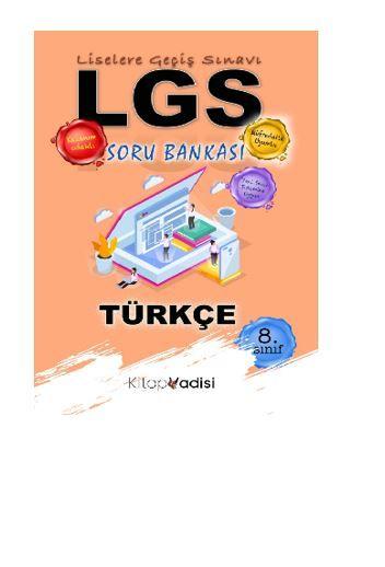 8.Sınıf LGS Türkçe Soru Bankası  PDF Kitap İndir