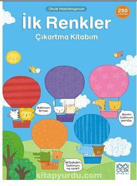 İlk Renkler Çıkartma Kitabım- 250 Çıkartma PDF Kitap İndir